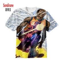 Sondirane WESTBROOK 3D Sublimation Print Custom Made T shirt Summer Short Sleeve Hip Hop Tops Fashion
