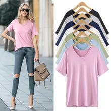 Summer 2019 new fashion T-shirt pink womens harajuku style tops V-neck plus size korean women shirts 5XL/6XL