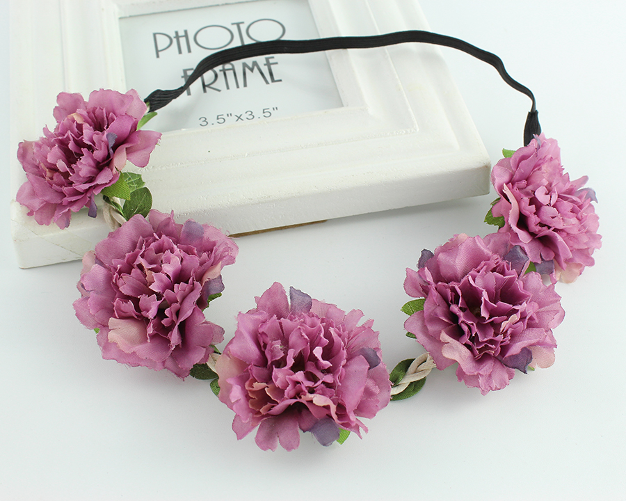 The Beach Party Rose Garland Flower Hair Ornaments Headband Headdress Bracelet Bride Wedding Decoration Fresh Romantic