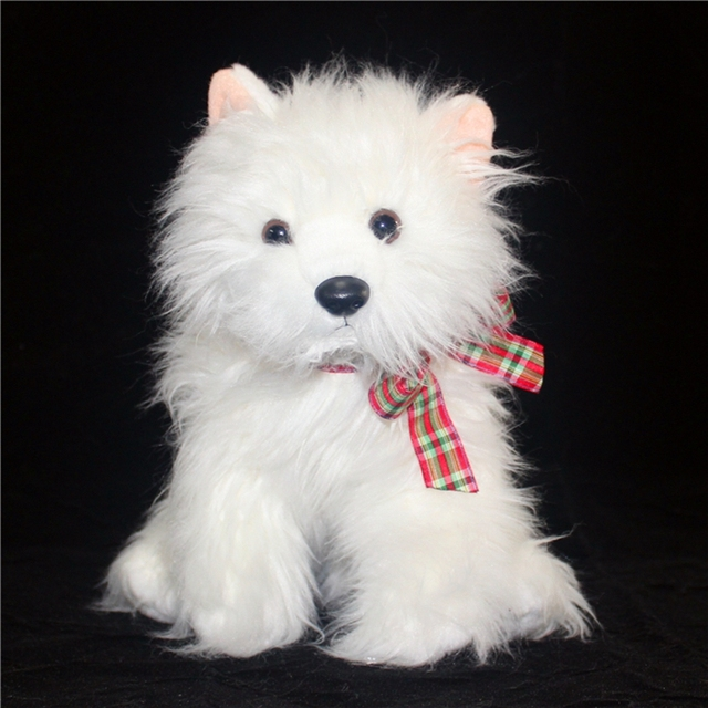 Simulation Little Dog Plush Doll West Highland White Terrier Dog Toy