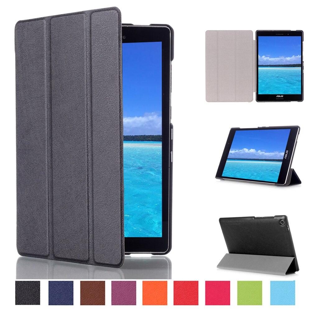 For ASUS Zenpad S 8.0 Z580 Z580CA Z580C 8.0 inch Tablet Business Pu Leather Stand Smart Sleep Case Cover чехол для asus zenpad z580c z580ca it baggage эко кожа черный