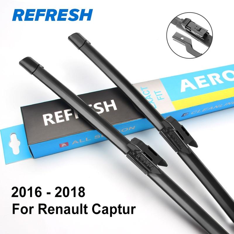 REFRESH Щетки стеклоочистителя рено Каптюр 2013 - Цвет: 2016 - 2018