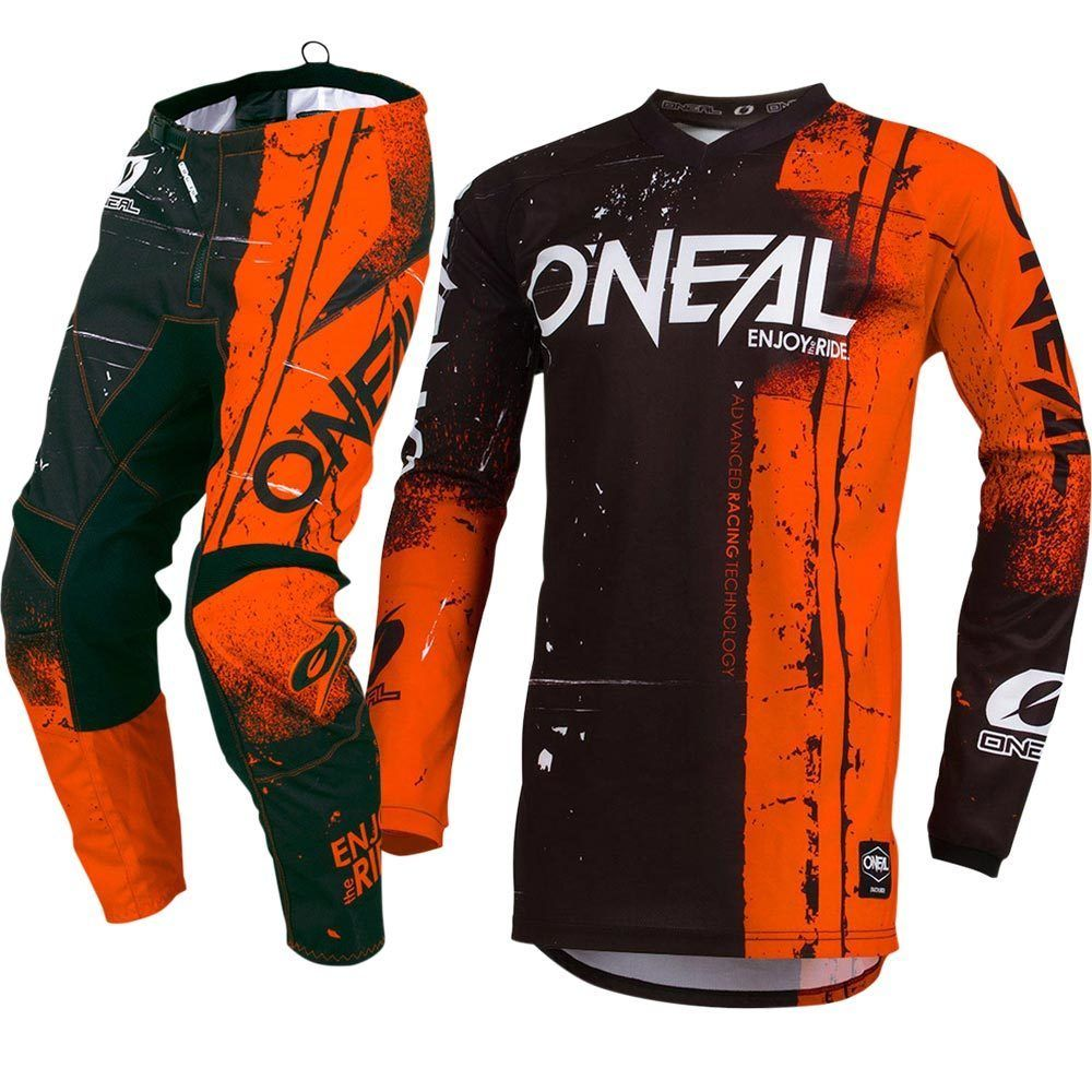 Element Shred Mx Children Jersey Trousers 2019 Orange Motocross Enduro Mx Racing Jersey Pant