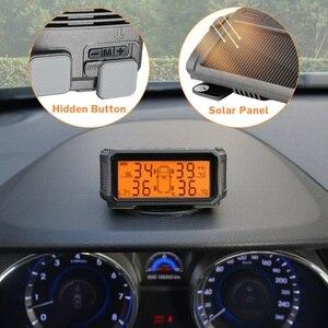 Image 2 - Tire Pressure Monitoring System TPMS Sensor Solar Auto Sicherheit Smart Reifen Control Wireless 4 Räder Externe Interne Sensoren