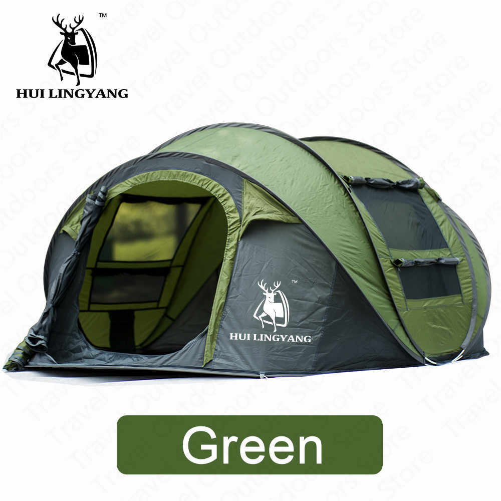 HUILINGYANG Палатка Большой space3-4persons автоматический, скоростной, открытый метание всплывающий ветрозащитный семейный тент для кемпинга