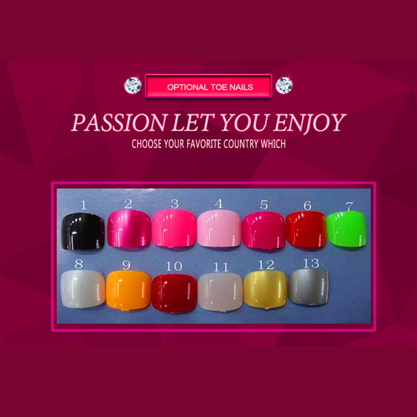 choose toe nail color for your love doll