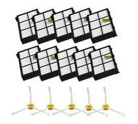 10 Piece Hepa Filter 5 Side Brush Kit Replacement For Irobot Roomba 800 Series 880 870