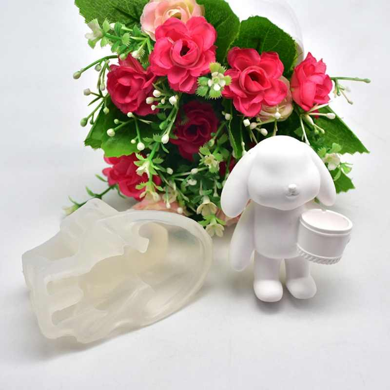 Новая 3D Трехмерная милая сумка Кролик силиконовая форма для кексиков пресс-формы для кухни. Сделай Сам, выпечка, муссовый торт