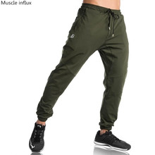 Autumn Winter new mens cotton Sweatpants gyms Fitness workout Workout Pants Skinny  Trousers Jogger 2018