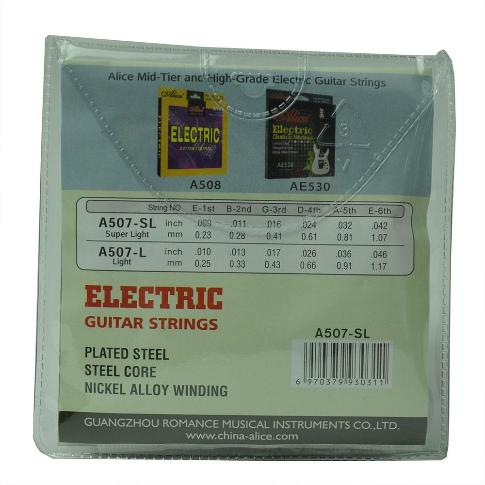 10 Sets A507-SL Electric Guitar Strings Super Light 6-string Set Steel Core