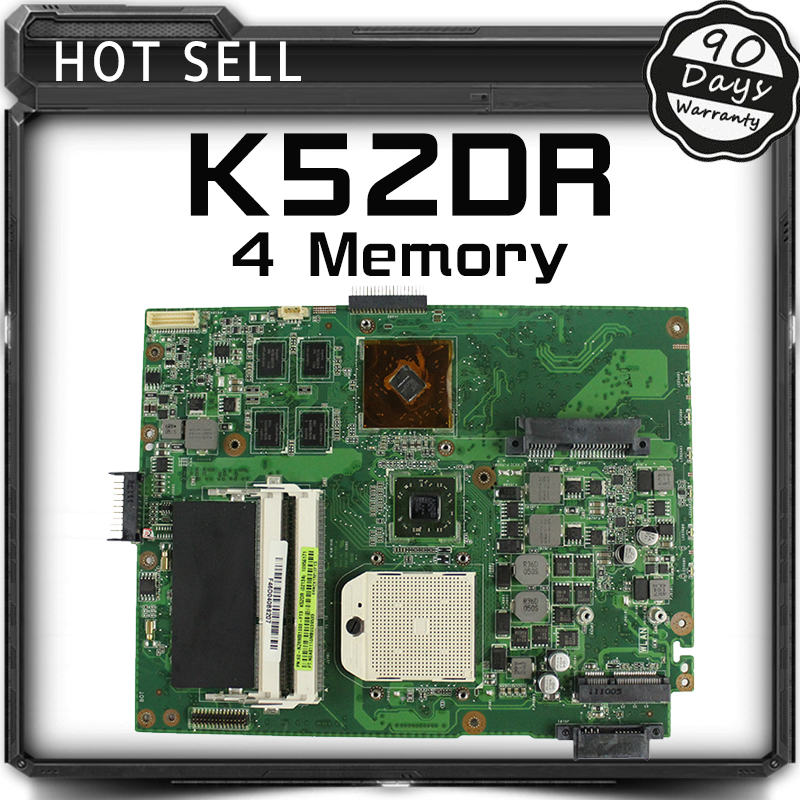 For ASUS K52DR laptop motherboard A52DE K52DE A52DR K52D Notebook Mainboard HD5470 with 4 Memory 100% Tested 7800mah laptop battery for asus k42j k42f k42jr k42d k42jc k42jf k42jb k52 k52d k52de k52dr k52dy k52eq k52jt k52f k52j