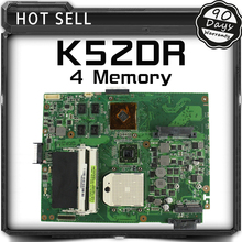 For ASUS K52DR laptop motherboard A52DE K52DE A52DR K52D Notebook Mainboard HD5470 with 4 Memory 100% Tested