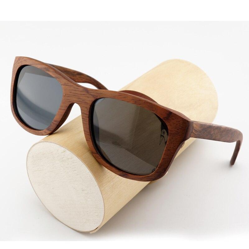 BOBO BIRD AG008a Handmade Red Sandalwood Super Vintage Sunglasses Women Brand Designer Gray Polarized Len Wooden