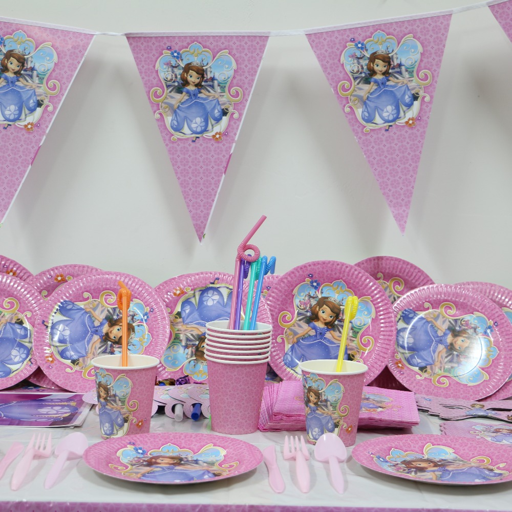 Princess Party Decoration Aliexpresscom Buy Hot 1pack 118pcs Kids Birthday Party