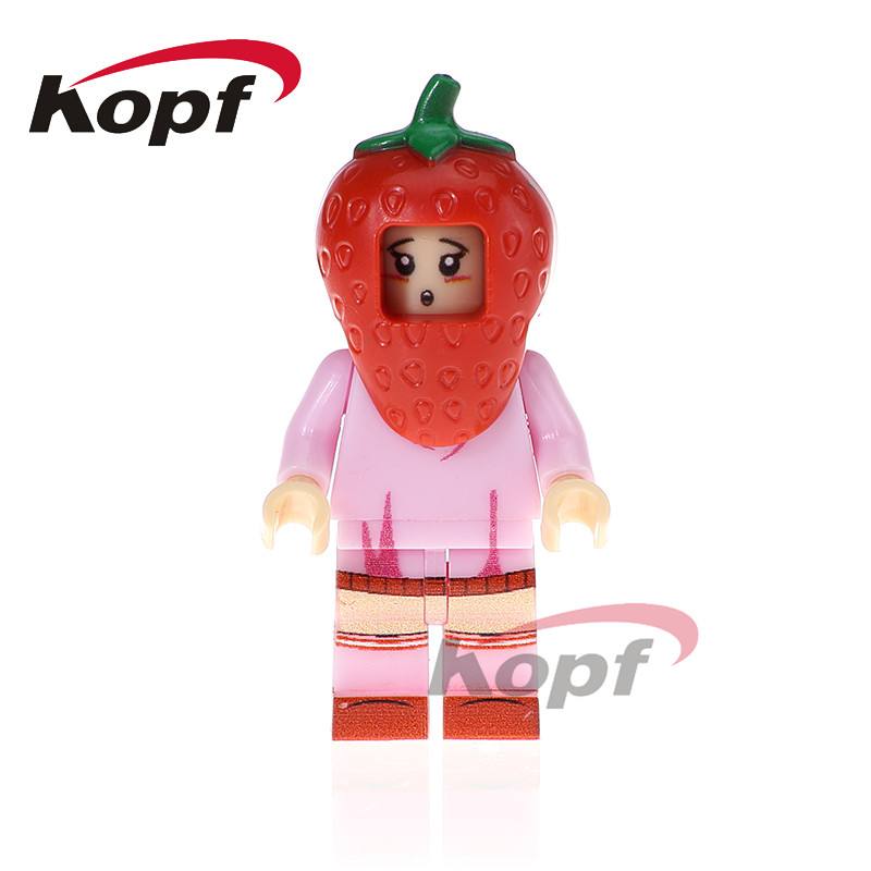 Single Sale Super Heroes Peanut Pepper Pineapple Disguised Watermelon Bricks Action Building Blocks Children Gift Toys PG1227 single sale building blocks super heroes bob ross american painter the joy of painting bricks education toys children gift kf982