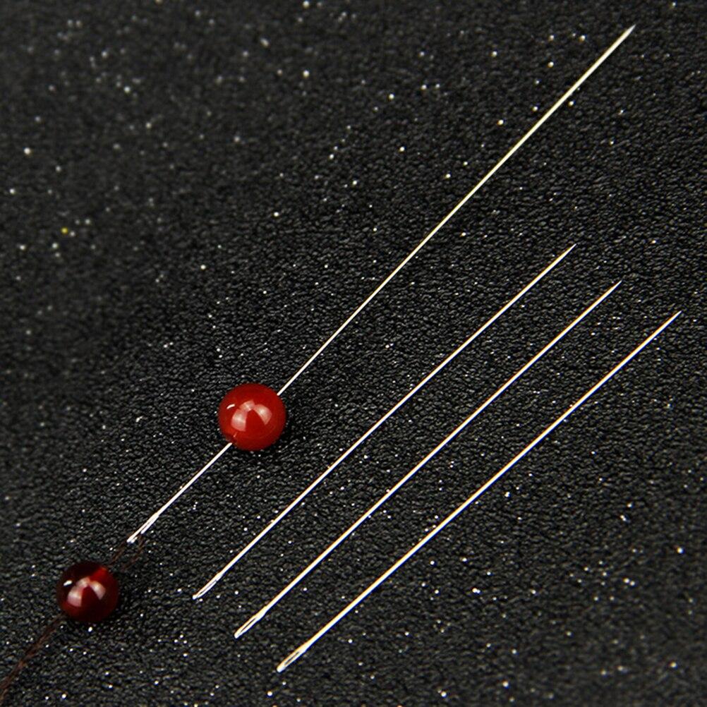 30 шт./лот 0,6×120 мм DIY Большой Глаз Изогнутые Бисер иглы для браслет Цепочки и ожерелья нанизывая высокое качество