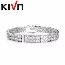 KIVN Fashion Jewelry Tennis Classic CZ Cubic Zirconia Womens Girls Bridal Wedding Bracelets Promotion Birthday Christmas Gifts