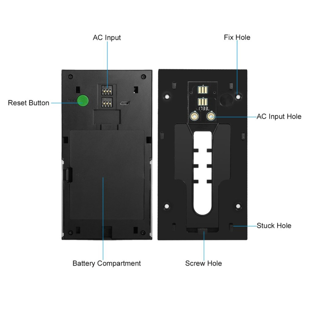 LESHP vidéo sonnette 1080P sans fil WiFi anneau porte cloche HD 2.4G téléphone à distance PIR mouvement bidirectionnel parler maison alarme sécurité - 5