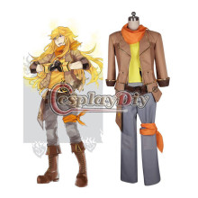 Cosplaydiy RWBY Yang Xiao Long Male Version Cosplay Costume For Halloween Carnival Party Suit Uniform Custom Made D0415