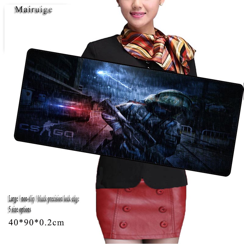 Mairuige Shop XL Speed/Control Version Large Gaming Locking Edge Mouse pad Keyboards Mat ...