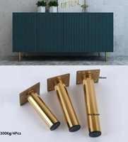 4Pcs/Lot Premintehdw Gold Sofa Closet Cupboard Cabinet Feet Furniture Leg Gold