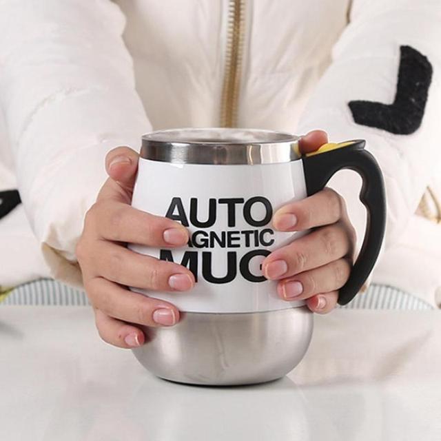 Taza mezcladora de acero inoxidable café leche 400ml 2