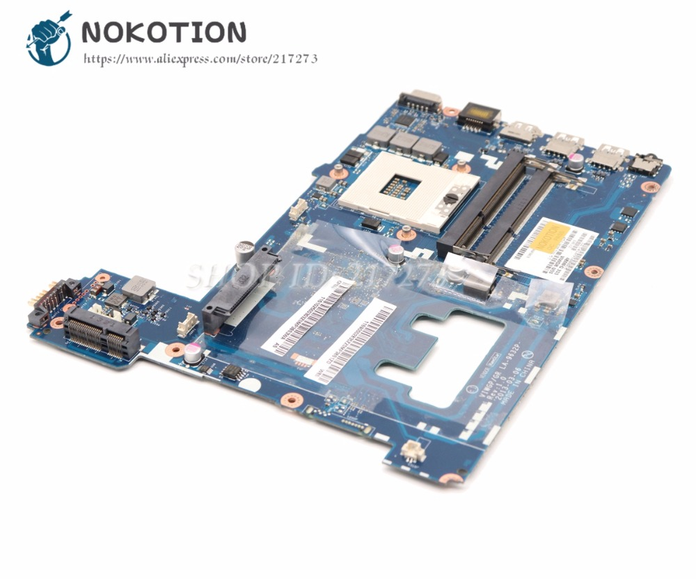 NOKOTION Main Board For Lenovo Ideapad G500 Laptop Motherboard VIWGP/GR LA-9632P HM76 gma hd DDR3 la 7982p laptop motherboard for lenovo g580 p580 p585l main board hm76 gma hd ddr3