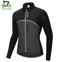 WOSAWE Mens Winter Thermal Fleece Windproof Cycling Jacket MTB Bike Bicycle Coat Waterproof Sports Clothing