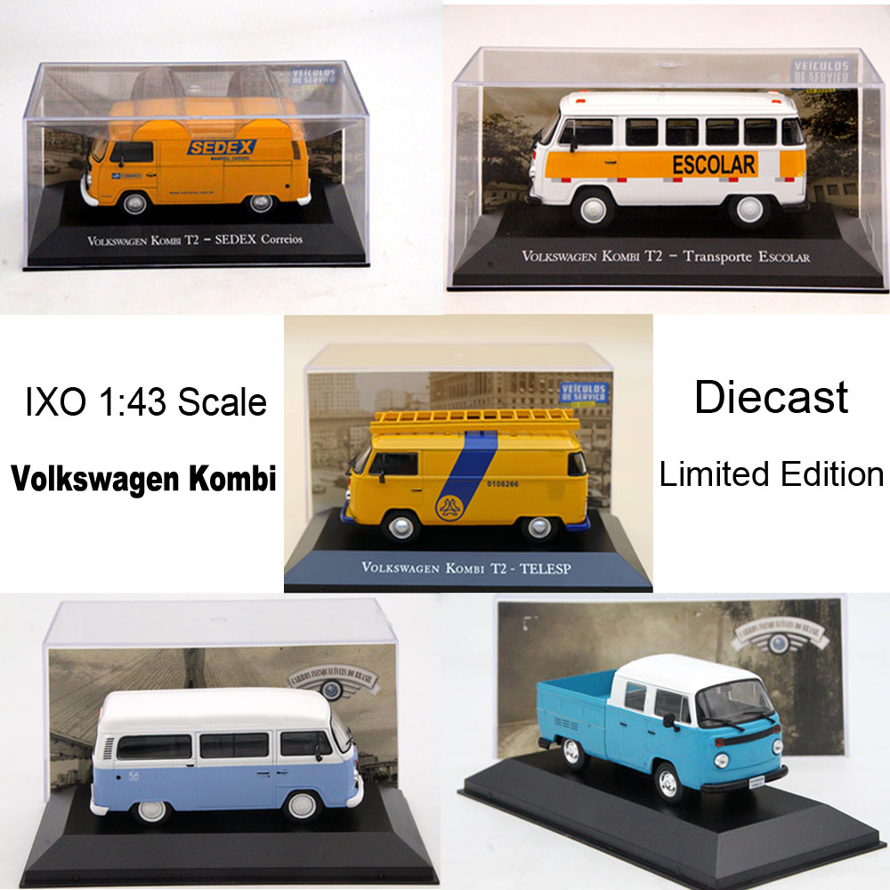 <font><b>IXO</b></font> <font><b>1:43</b></font> V~W Kombi T2 Gurgel Itaipu E400 Diecast Toys Models Car Limited Edition Collection image