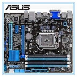 Настольная Материнская плата Asus B75M-PLUS б/у материнская плата B75 Socket LGA 1155 i3 i5 i7 DDR3 16G uATX