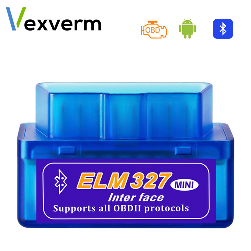 OBD mini ELM327 <font><b>Bluetooth</b></font> Wifi OBD2 V2.1 V1.5 Auto Scanner OBDII Car <font><b>ELM</b></font> <font><b>327</b></font> Tester Diagnostic Tool for Android Windows Symbian image