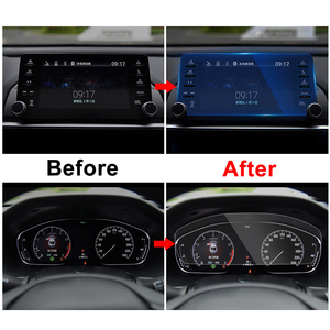 Image 4 - For Honda Accord 10th 2018 Car GPS Navigation Screen Steel Protective Film Dashboard Pain Protector Film Car Sticker Accessories