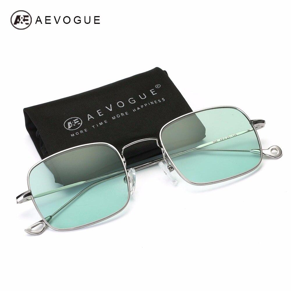 AEVOGUE Sunglasses For Men Small Rectangle Metal Frame Asymmetrical Temple Hot Selling Unisex Sun Glasses UV400 AE0541