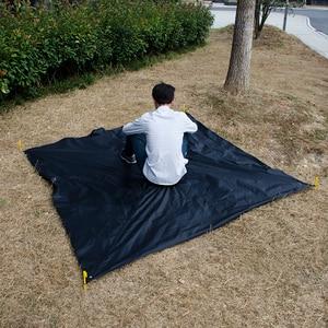 Image 3 - مقاوم للماء أرجوحة قماش القنب المطر يطير 11*10 قدم في الهواء الطلق التخييم خيمة الشمس المأوى للتخييم أرجوحة أثاث خارجي Acehmks