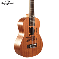 SevenAngel Brand High Quality Ukulele Soprano Concert Tenor Ukelele AQUILA Strings Rosewood Fingerboard Rabbit Bear Pattern
