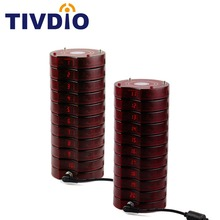 Tivdio Restaurant Equipments 20Pcs Pagers 2Pcs Charger Base For Wireless Paging Queuing System Restaurant Pager F4475A
