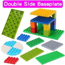Placas Base de doble cara de alta calidad para ladrillos grandes DIY bloques de construcción placa Base Compatible con bloques Duplos