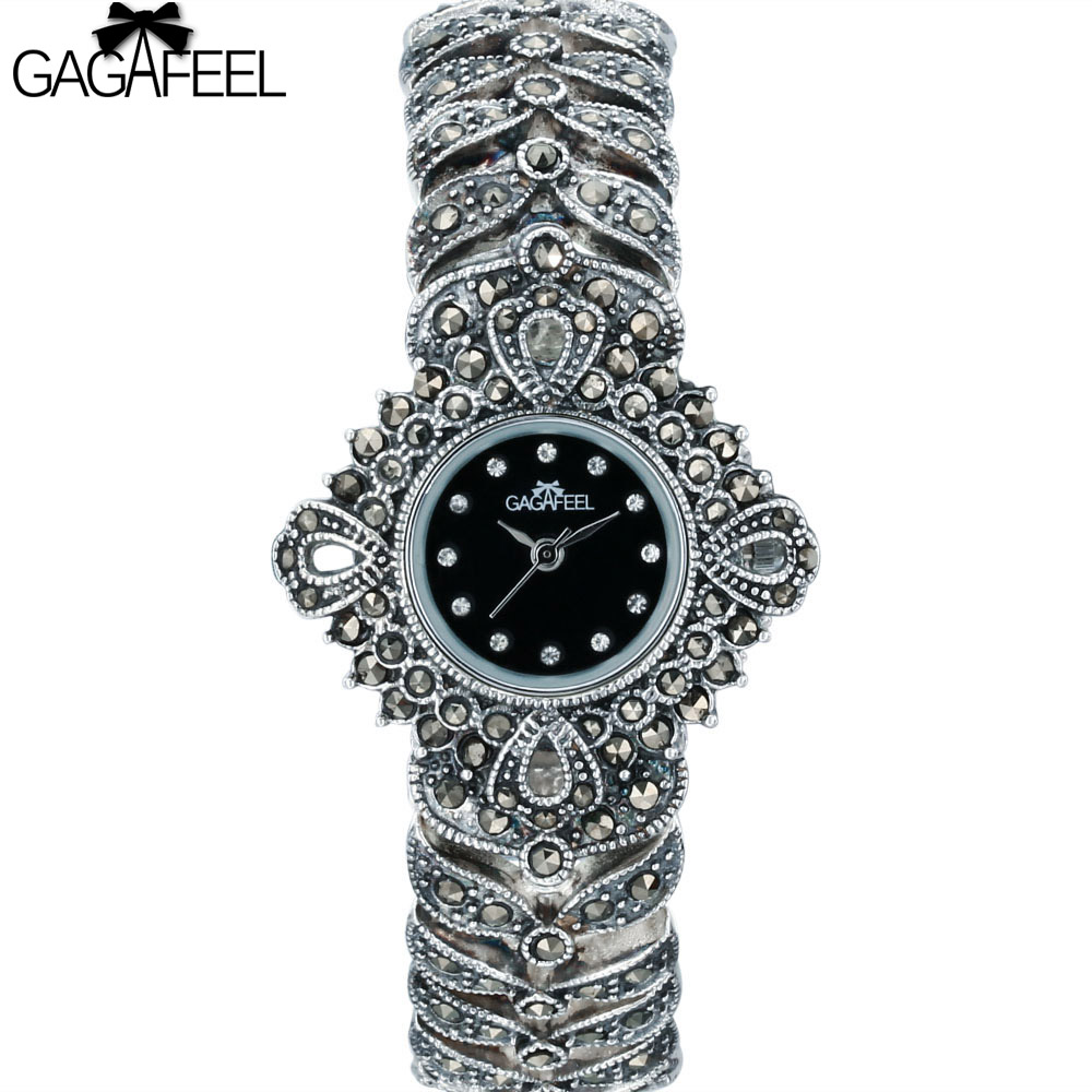 цены GAGAFEEL Thail Silver 925 Sterling Silver Watches for Women Lady Elegant Quartz Wristwatches Woman's Clock Hours