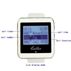 Image 5 - 1 個キーボードトランスミッタ + 4 個の時計受信機ページャワイヤレスコースター呼び出しシステムホテルウェイターレストランシステム