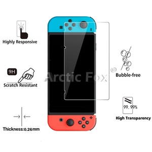 Image 3 - 10 Pcs/Lot 2.5D 0.26mm Premium Tempered Glass For Nintend Switch Screen Protector Toughened protective film For Nintend Switch
