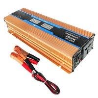 2600W DC 12 V To AC 110V Solar Power Inverter Transformer Aluminum Alloy Dual USB Car