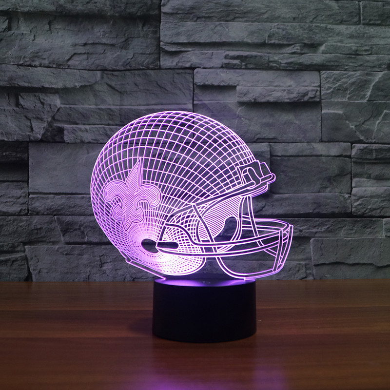 3D effect American football helmet led light furniture New Orleans Saints team