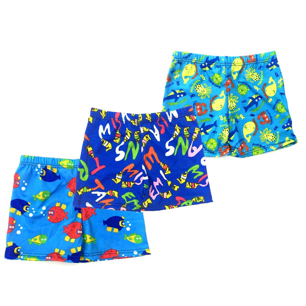 a97d55284a ... 1PCS Cartoon Beach Swimwear Shorts Child Swimming Trunks Swimsuit  Summer Swim Wear Printed Toddler For ages ...