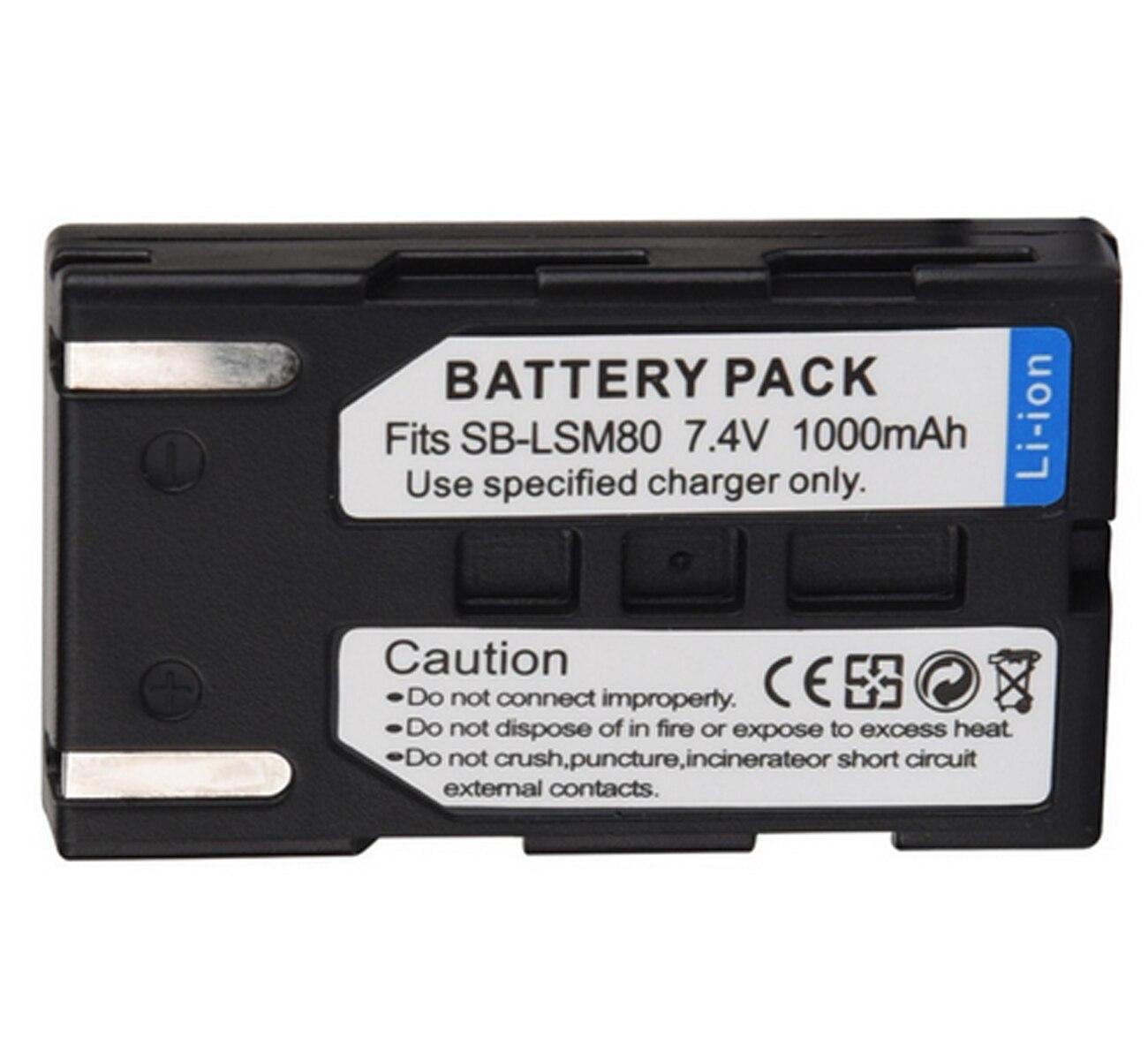 Battery 2-Pack VP-D455i Digital Camcorder VP-D452Bi VP-D453i and LCD USB Charger for Samsung VP-D451i VP-D454i