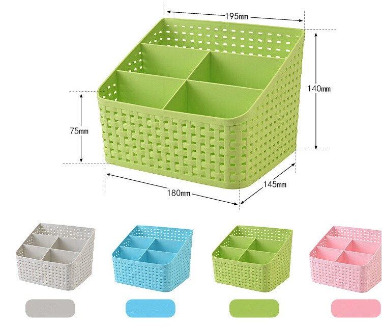 Simple life Desktop sundries pen pencil storage basket organizer vintage container storage basket plastic box storage box 2