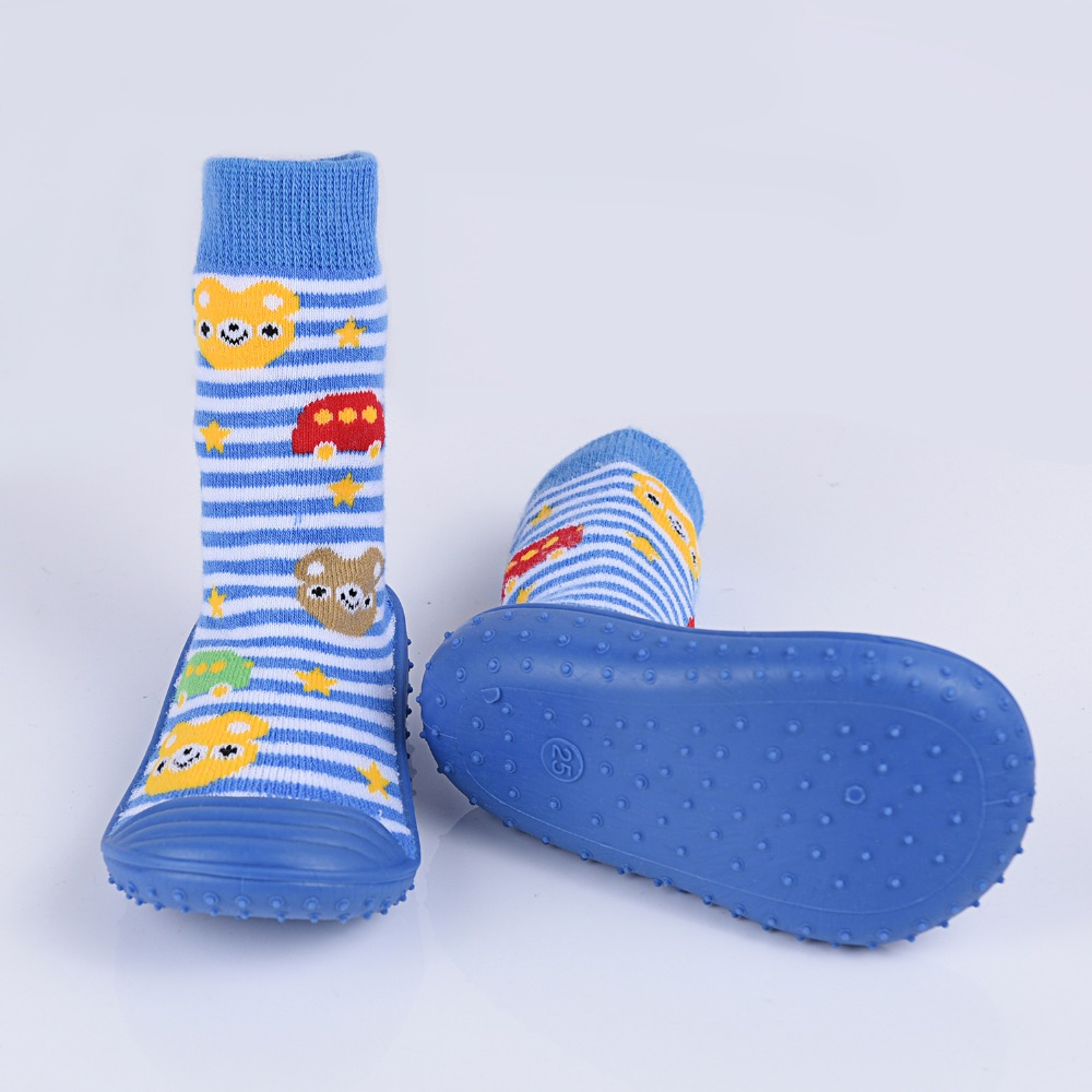 DkDaKanl Baby Toddler Cartoon Shoes Anti Slip Baby Socks With Rubber Shoes Indoor Floor Shoes For Children CY054