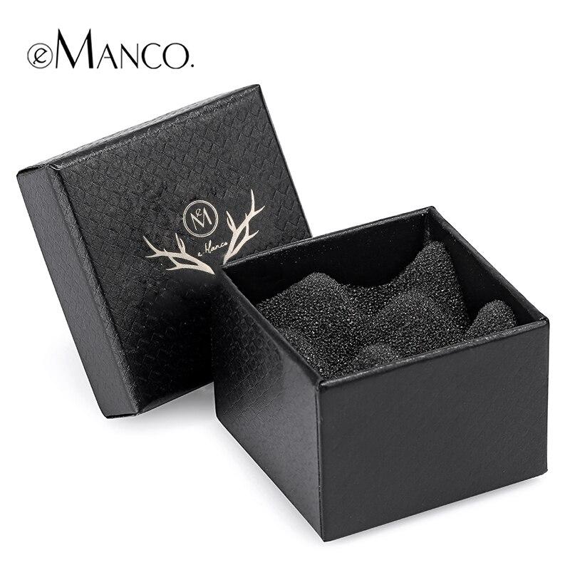 Elegant gift box jewelry black shockproof bubble pad ring box high quality jewelry packaging box paper 5*5*4 CM eManco