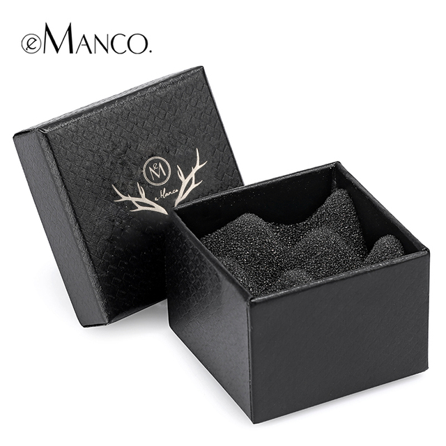 Elegant gift box jewelry black shockproof bubble pad ring box high