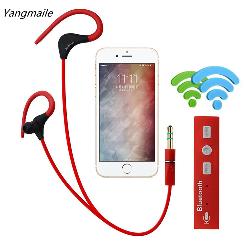 Yangmaile Wireless Bluetooth Headset SPORT Stereo Headphone Earphone for iPhone For Samsung For LG Free Shipping NOM04 sport stereo mini clip on bluetooth headset wireless bluetooth handsfree clip earphone headphone clamp collar for samsung iphone