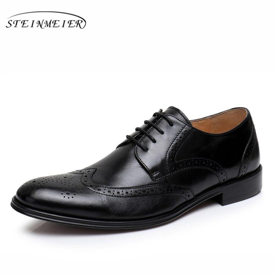 Genuine sheepskin leather brogues yinzo men flats shoes vintage handmade sneaker red black blue oxford shoes for men 2018
